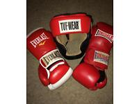 Boxing Gloves & Head Guard