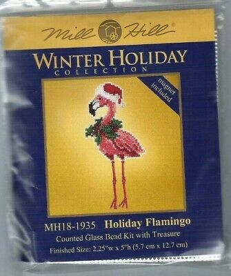 Christmas Flamingo (Christmas Holiday Flamingo Winter Holiday Kit with Treasure by Mill)