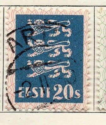 Estonia 1928-29 Early Issue Fine Used 20s. 087905