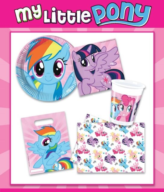 MY LITTLE PONY Girls Birthday Party Supplies Tableware Decorations