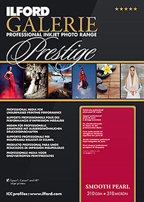 Ilford Galerie Prestige Smooth Pearl 6x4 Inkjet Photo Paper 310gsm 100 Sheets