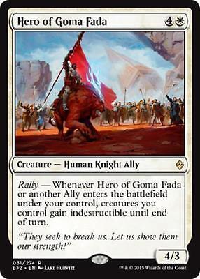 Hero of Goma Fada Rare Battle for Zendikar ~~~ MINT ~~~ UNPLAYED MTG Magic