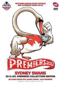 AFL - 2012 Premiers Sydney Swans (DVD, 2012, 2-Disc Set) NEW Region 4 Sealed
