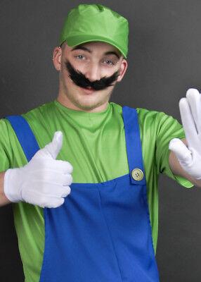 Black Super Mario Luigi Style Fake Moustache](Luigi Moustache)