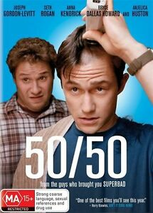 50/50 - DVD VERY GOOD CONDITION REGION 4 NEW AND SEALED