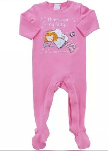 THATS NOT MY FAIRY PINK BABY GIRLS ONE PIECE SUIT SZ 1 BNWT