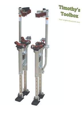 Contractor Plus Professional Dual Spring Aluminum Drywall Stilts 24-40- New