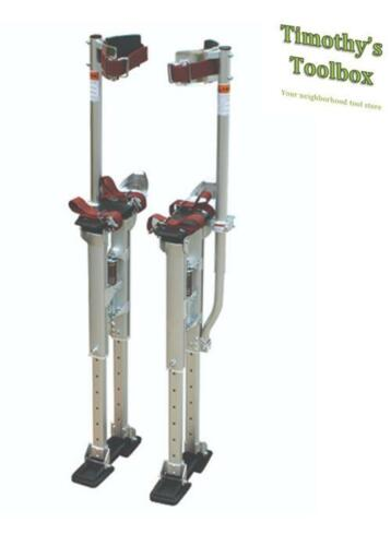 Contractor Plus Professional Dual Spring Aluminum Drywall Stilts 24