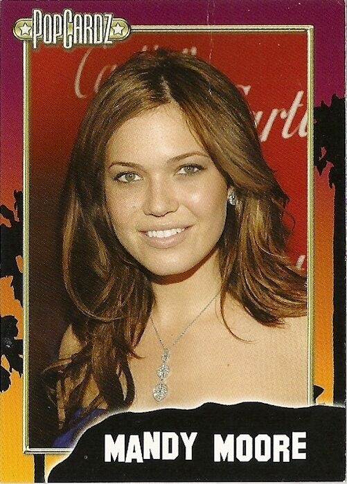 ACTRESS-SINGER Mandy Moore.  POPCARDZ #18 Trading Card. In Protective Sleeve