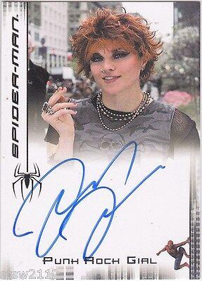 SPIDERMAN 3 MOVIE LUCY LAWLESS AUTOGRAPH PUNK ROCK GIRL XENA BSG SPARTACUS *VL*