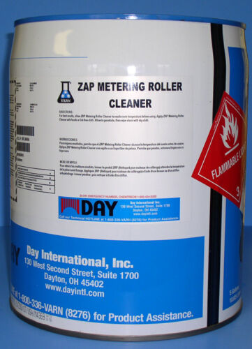 VARN ZAP METERING ROLLER CLEANER 5 GALLON PAIL *** FREE SHIPPING ***