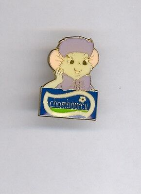 1990s Euro Disney Paris Mouse Bianca The Rescuers Chambourcy Sponsor Pin