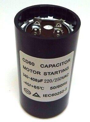 - Motor Start Capacitor Round  340-408 uF MFD 220 V 250 V 220/250 VAC 46x86mm CD60