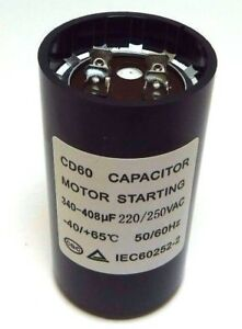 Motor Start Capacitor Round  340-408 uF MFD 220 V 250 V 220/250 VAC 46x86mm CD60