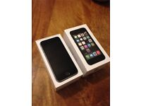 Apple iPhone 5S Space Grey with box but NO charger or headphones - Home Button Broken - Locked to EE