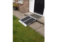 3ft, 4ft, 5ft Aluminium Portable Wheelchair Ramp, Folding Suitcase Ramp £210 for 3ft ramp