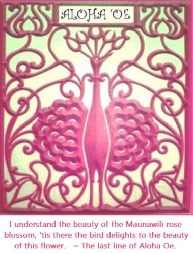THE HONOLULU CABINET queen liliuokalani vtg hawaiian flower bird la pietra music