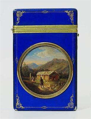 Tabakdose mit romatischer Genreszene - Frankreich 19. Jahrhundert