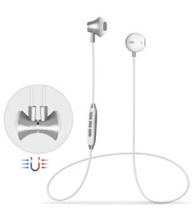 BRAND NEW Bluetooth Magnetic White Earphone