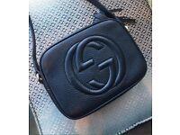 Black leather Gucci soho disco bag