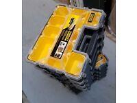 BRAND NEW X 10 DEWALT STANLEY FATMAX DEEP PRO ORGANISERS TOOL BOX 10 Compartments