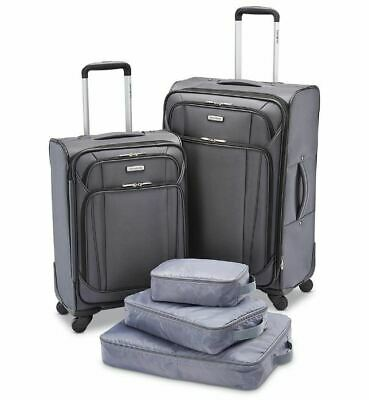 "Samsonite 5-Pc. Luggage Set - Shark Gray, 21"" 25"" Spinner, Packing Bags"