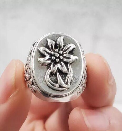 German Third Reich---  Edelweiss Flower Ring ----  Size 11