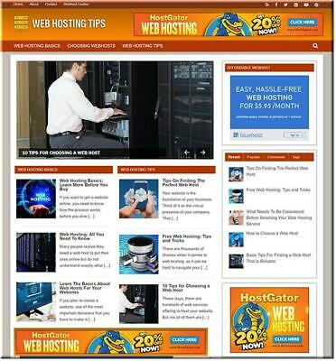 Web Hosting Ready Website Blog Business Earn From Affiliate Amazn Adsnsclikbnk