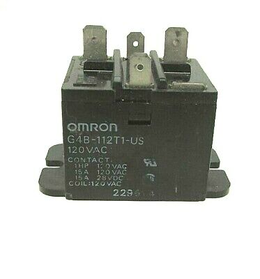 Omron G4b-112t1-us 120v General Purpose Flange Mount Relay New