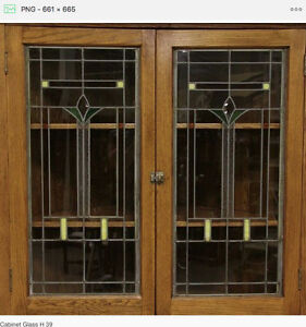 Cabinet Door glass inserts Leaded & Stain Glass