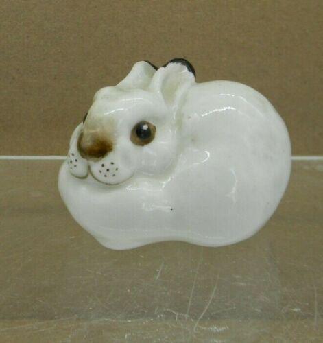 Lomonosov Porcelain Bunny Rabbit Figurine Russian USSR Shadowbox Vintage
