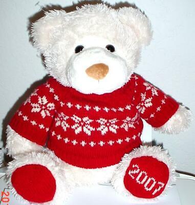 2007 WalMART CHRISTMAS Snowflake TEDDY BEAR Beige Boy14