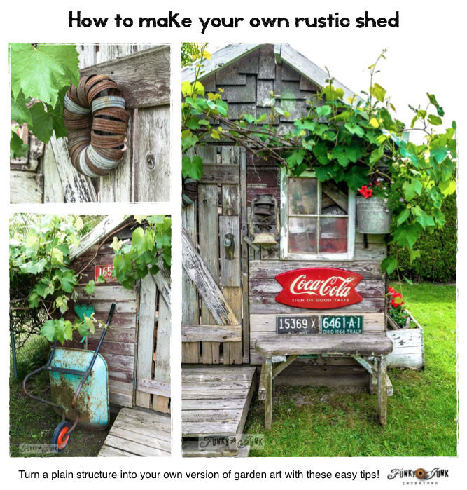 How To Turn A Plain Garden Shed Into A Rustic Gem   EBay