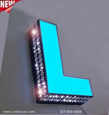 New Led Channel Letters Sign Front Lit And Side Lit - 24 - Custom Made