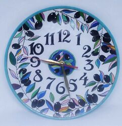 Wall Clock Hand Made Beautiful Watch in a Gift Pre Owned