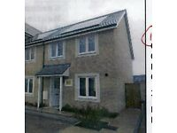 New Build 3 bed semi detached house with garden