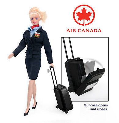 Flight Attendant Doll Air Canada W/ Backpack & Accessories Blond In Package