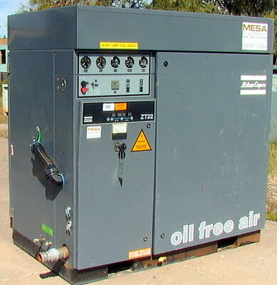 Atlas-copco Zt22 22kw 30hp Oil-free Rotary Tooth Compressor 125 Psi 150 Cfm