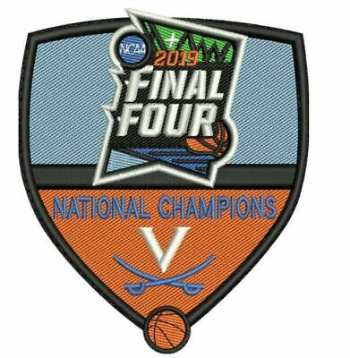 2019 VIRGINIA CAVALIERS PATCH FINAL FOUR  MENS BASKETBALL CHAMPIONS -