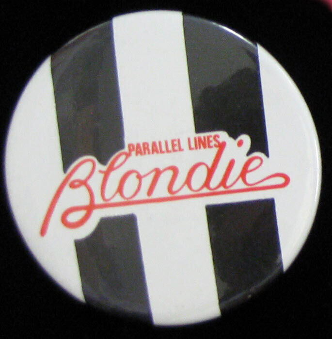 Blondie Parallel Lines _RARE VTG Lapel Pin Badge Pinback for hat/jacket/shirt