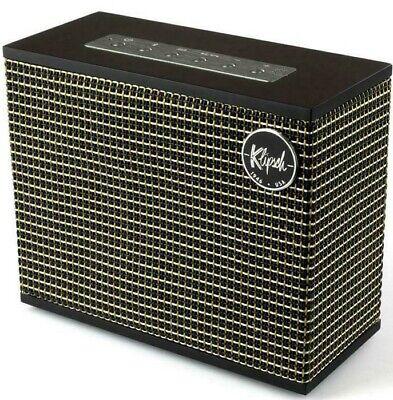 Klipsch Heritage Groove Bluetooth Speaker Black 8 Hour Rechargeable Battery