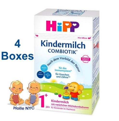 HiPP Kindermilch 1+ Bio Combiotic Milk Formula 600g 4 Boxes Free Shipping