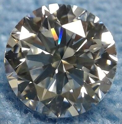Round 8 mm 2.4 ct Modern Diamond Cut VVS Real White Sapphire Brilliant Solitaire