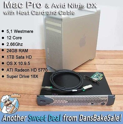 Avid Nitris DX Bundle w/ Card Cable Apple Mac Pro 12 Core 2.66 Ghz Computer WOW! for sale  Shipping to India