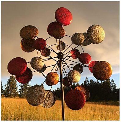 Large Kinetic Wind Spinners Metal Garden Windmill Outdoor Lawn Decor Art Modern ()