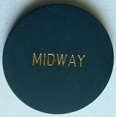 """Midway Casino """"LARGE LETTERS"""" Was On Boulder Highway PITTMAN NEVADA Casino Chip"""