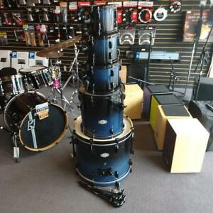Pearl Vision Birch 8-10-12-16ft-22bd shell kit/Batterie acoustique Blue Fade en bouleau - used/usagée