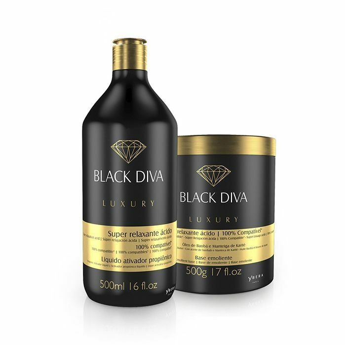 acid relaxation treatment keratin black diva 500ml