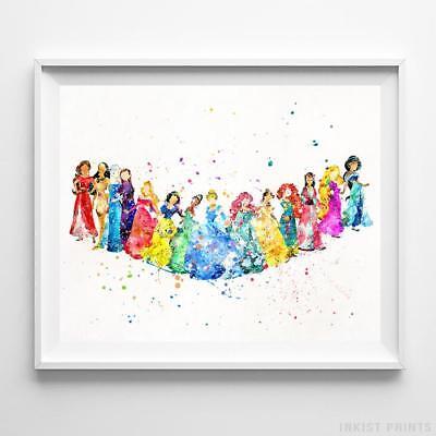 Disney Fourteen Princesses Poster Print Princess Baby Nursery Decor - Disney Princesses Baby