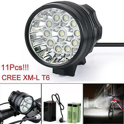 Купить 28000LM 11 x CREE XM-L T6 LED 3 Modes Bicycle Cycling Light Lamp Headlight Gift